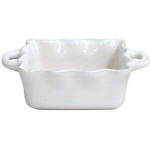 COOK & HOST Square Ruffled Baking Dish (White)-Bakeware-Parker Gwen