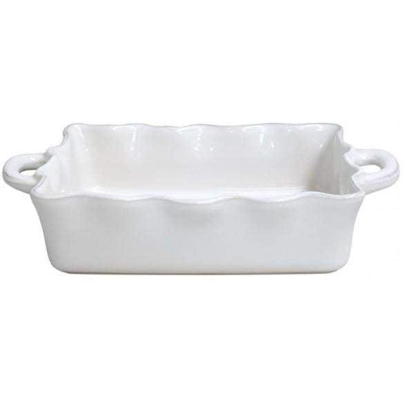 COOK & HOST Medium Rectangular Baking Dish (White) - Parker Gwen