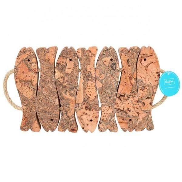 Cork 7-Fish Trivet with Rope Handles - Parker Gwen