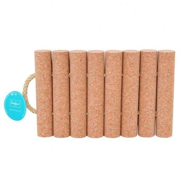 Cork 8-Raft Trivet with Rope Handles