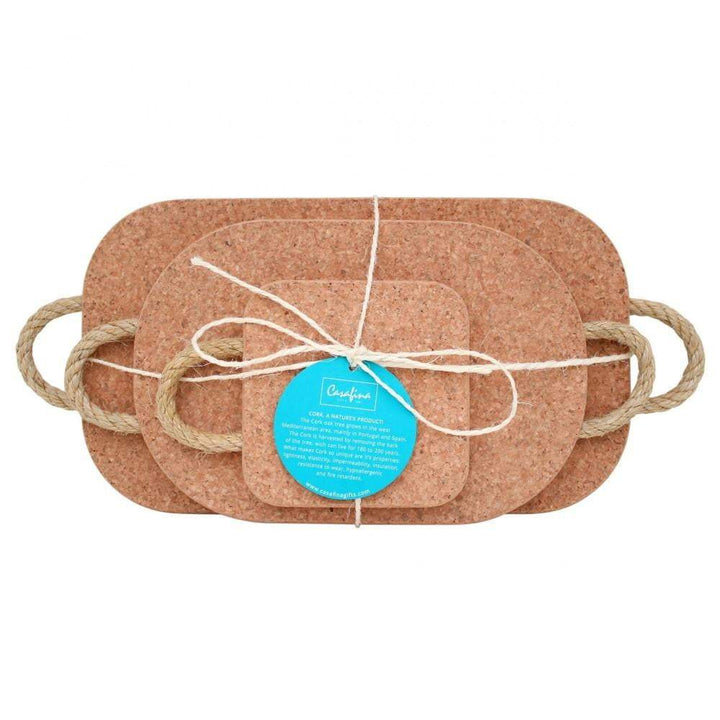 Cork Trivet Set with Rope Handles - Parker Gwen