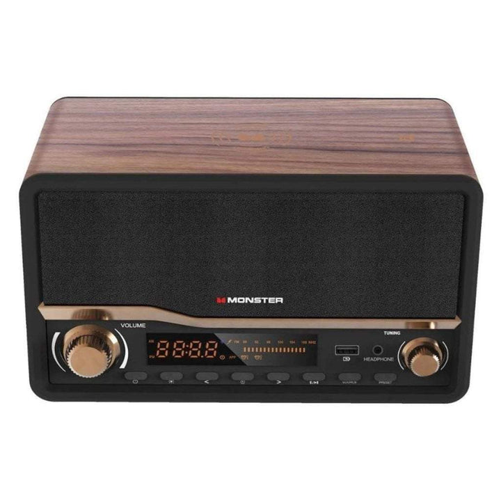 Monster Decora Wood Bluetooth Speaker & Clock Radio - Parker Gwen