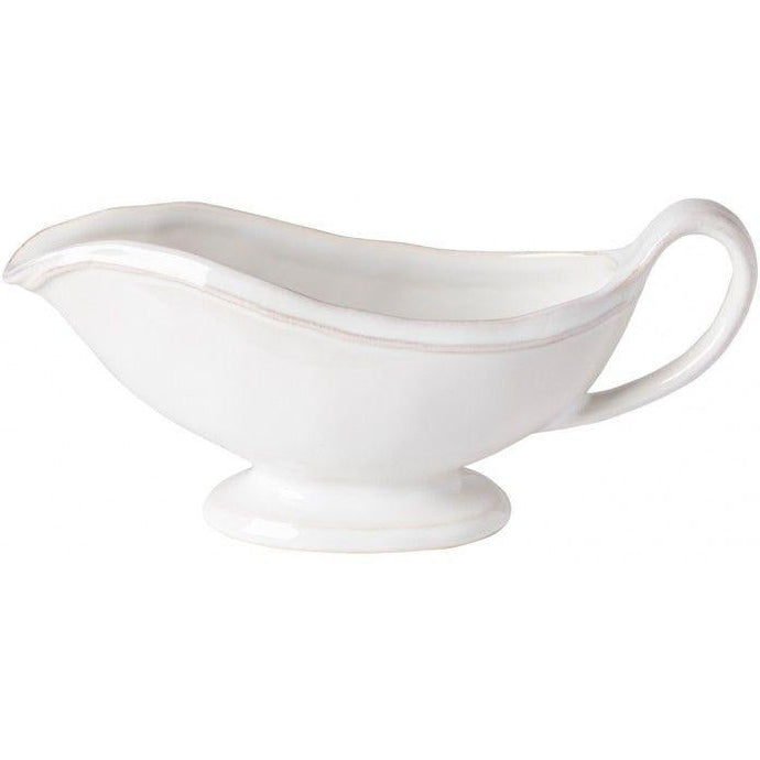 FONTANA SAUCE/GRAVY BOAT (White) | Serving Pieces | parker-gwen.