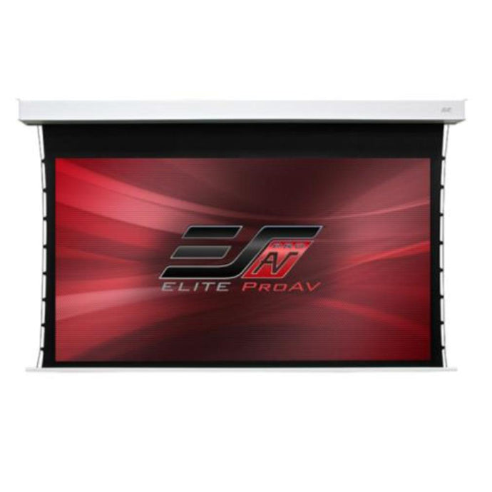 Elite Screens ProAV® Evanesce Tab-Tension CineGrey 5D®, 16:9, Electric Recessed In-Ceiling Tensioned Ceiling Ambient Light Rejecting (CLR®/ALR) Projection Screen w/ 8