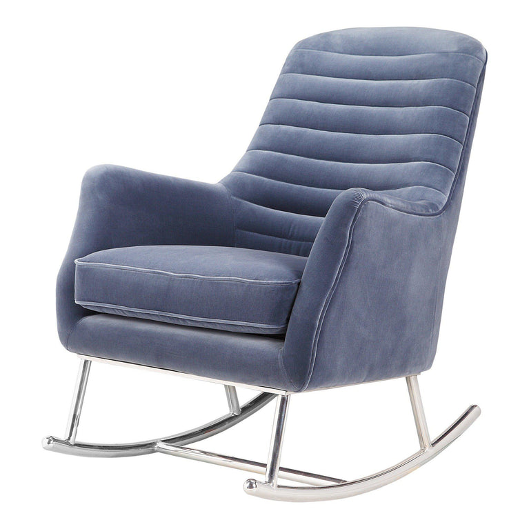 Lars Velvet Modern Rocking Chair