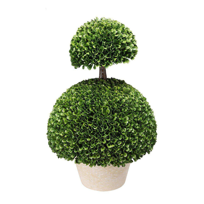 2-Tier Boxwood Topiary Bush-Floorstanding-Parker Gwen