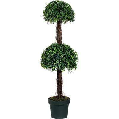 "2-tier Potted Boxwood Topiary Tree: 35""-Floorstanding-Parker Gwen"