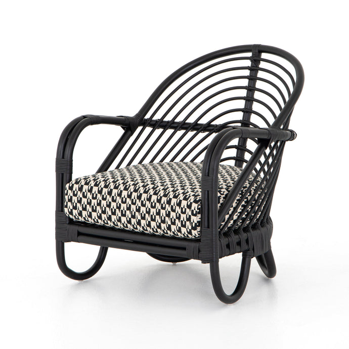 Marina Rattan Chair (Noma Ebony) | Accent Chair | parker-gwen