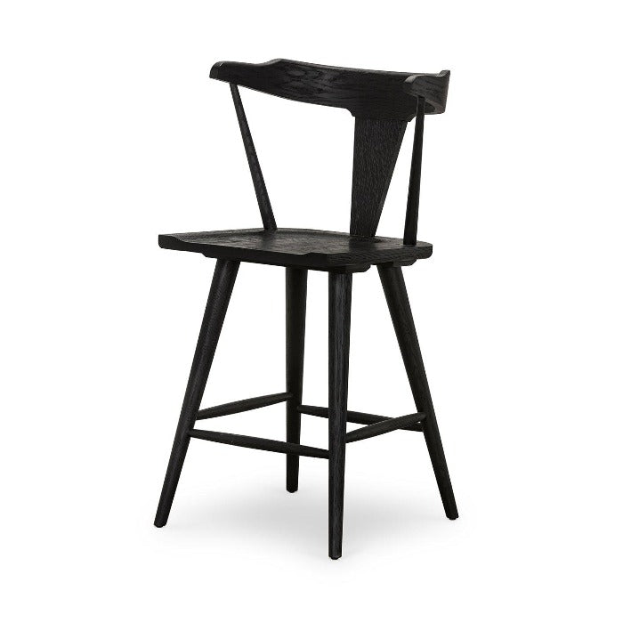 Ripley Bar or Counter Stool (Black) | Stool | parker-gwen