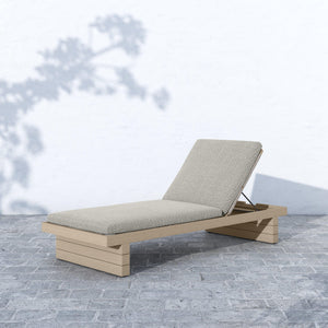 Leroy Outdoor Chaise (Washed Brown & Faye Ash)