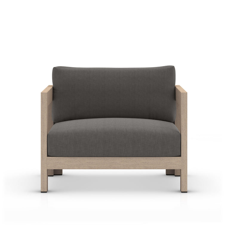 Caro Outdoor Accent Chair (Brown & Charcoal)
