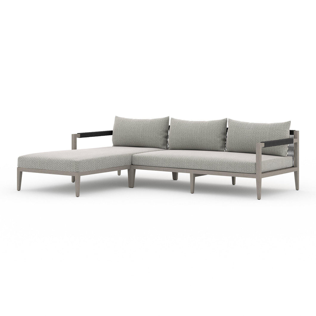 Sherwood Left or Right Chaise Sectional (Weathered Grey & Faye Ash)