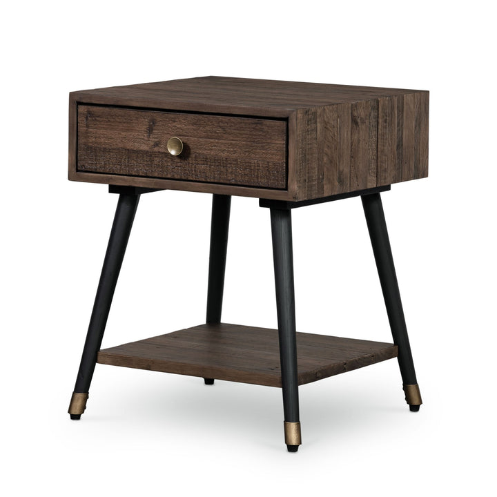 Bohemian Reclaimed Side Table (Rustic Saddle Tan) | Side Table | parker-gwen