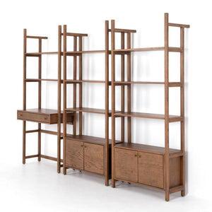 Teddy 3-Piece Desk Wall Unit (Vintage Sienna)