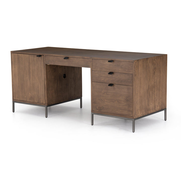 "Trey 70"" Executive Desk (Auburn Poplar)"