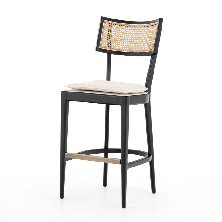 Britt Cane Wood Counter & Bar Stool (Brush Ebony)