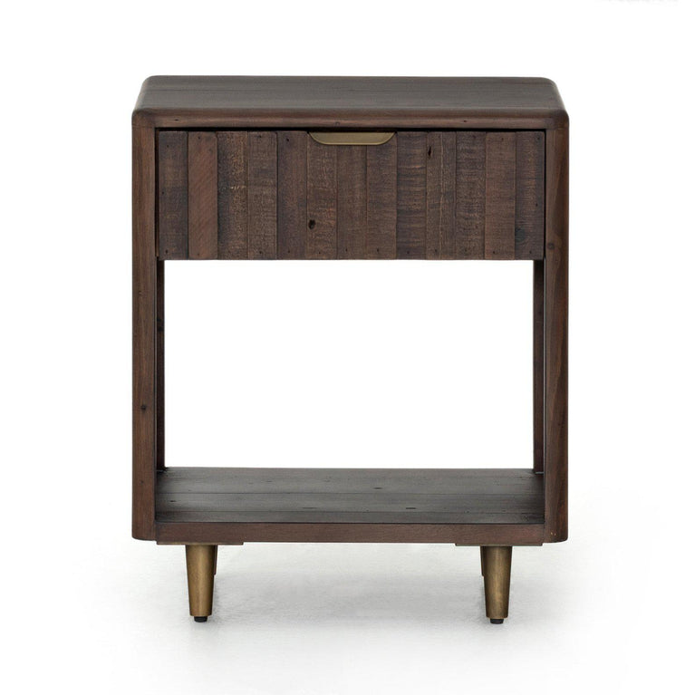 Lineo Reclaimed Nightstand (Rustic Saddle Tan)