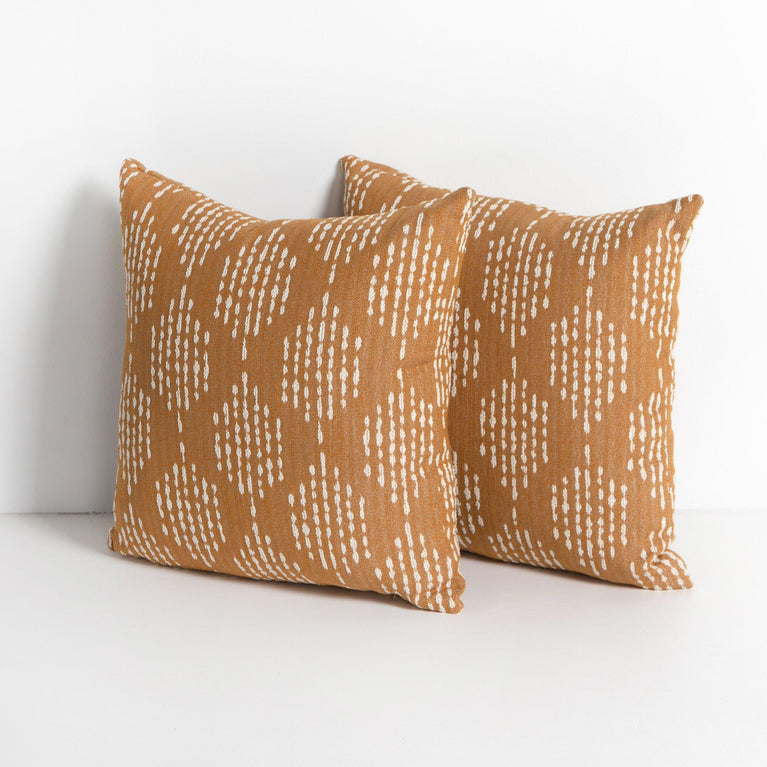 "Pera 20"" Outdoor Pillow - Set of 2 (Tumeric)"