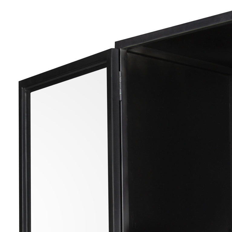 "Shadow Box 81"" Metal Cabinet (Black)"