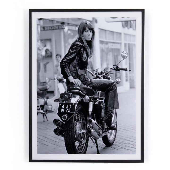 Francoise Hardy on Bike Framed Photograph - Getty Images | Print | parker-gwen.