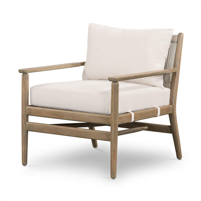 Rosen Outdoor Arm Chair (Natural Eucalyptus)