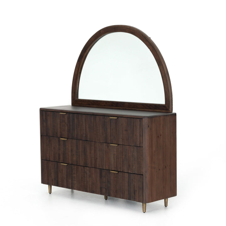 Lineo 6-Drawer Reclaimed Dresser & Mirror