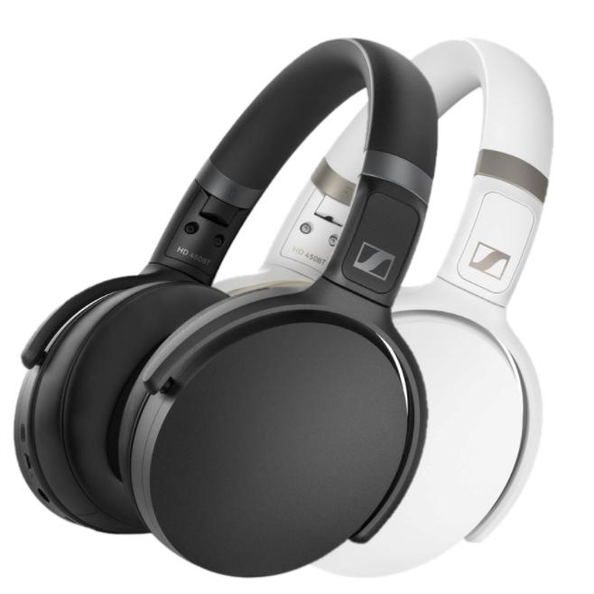 Sennheiser HD 450BT Over-Ear Wireless Headphones (Black or White) | Headphone | parker-gwen
