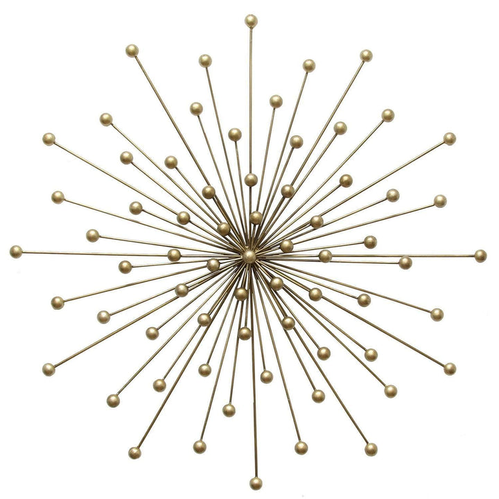 "28"" Gold Burst Wall Décor-Wall Accent-Parker Gwen"