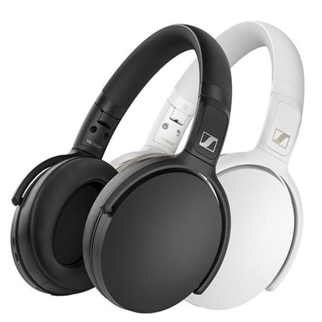 Sennheiser HD 350BT Over-Ear Wireless Headphones (Black or White) | Headphone | parker-gwen