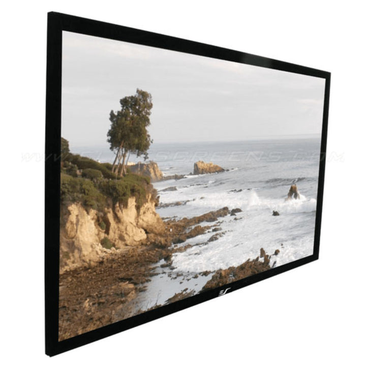 "Elite Screens Sable Light Rejecting CLR®/ALR Fixed Frame Projector Screen (100""-150"" Diagonal Available): CineGrey 3D® - Parker Gwen"