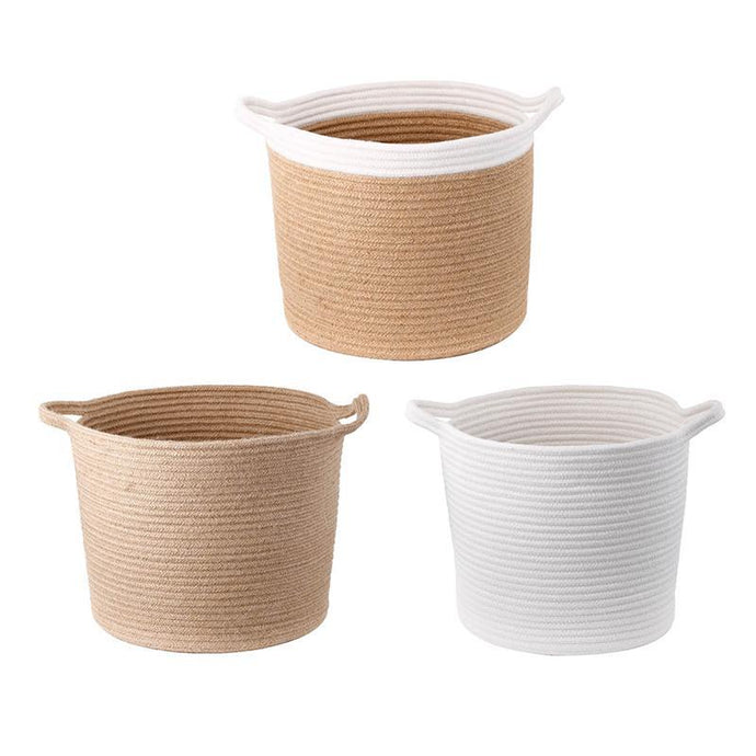 Diana Jute Baskets - Set of 3