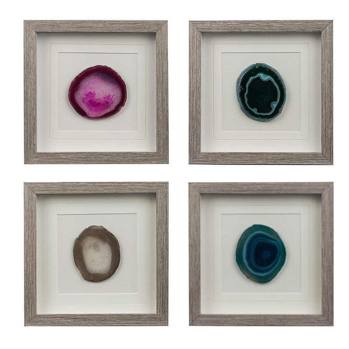 Colorful Stone Square Wall Art (Set of 4) - Parker Gwen