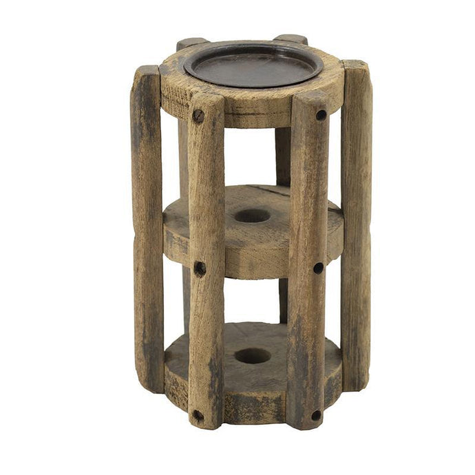 Reclaimed Wood Candle Stand | Lantern & Holder | parker-gwen
