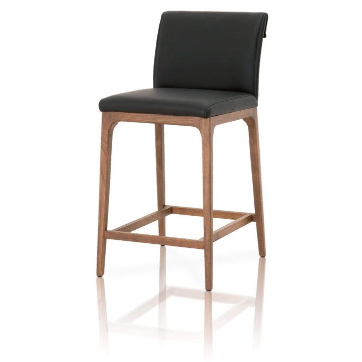 Alex Bar or Counter Stool (Sable Top Grain Leather) - Parker Gwen