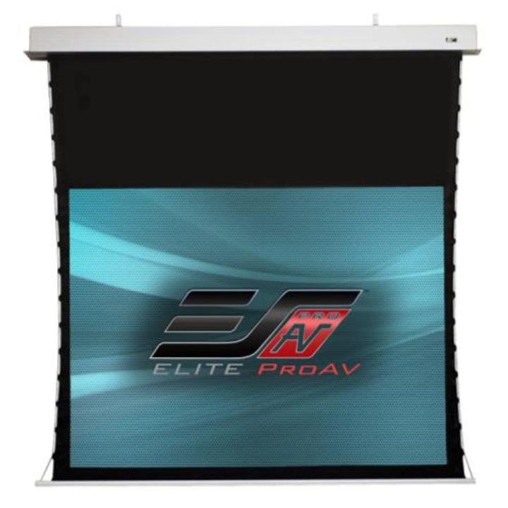 "Elite Screens ProAV® Evanesce Tab-Tension, 16:9, Tensioned Electric Motorized In-Ceiling Projection Screen (100"", 106"", 121"" or 135"" Available)"