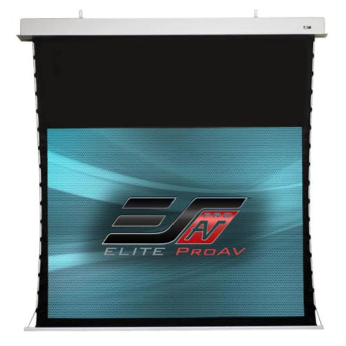 Elite Screens ProAV® Evanesce Tab-Tension, 16:9, Tensioned Electric Motorized In-Ceiling Projection Screen (100