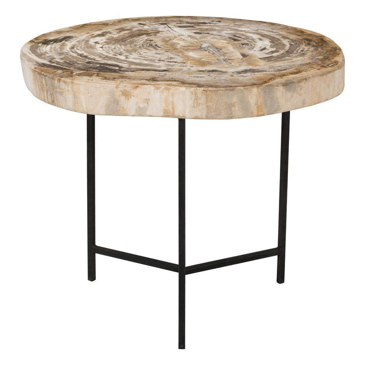 "Riley 19"" Petrified Wood Accent Table - Parker Gwen"