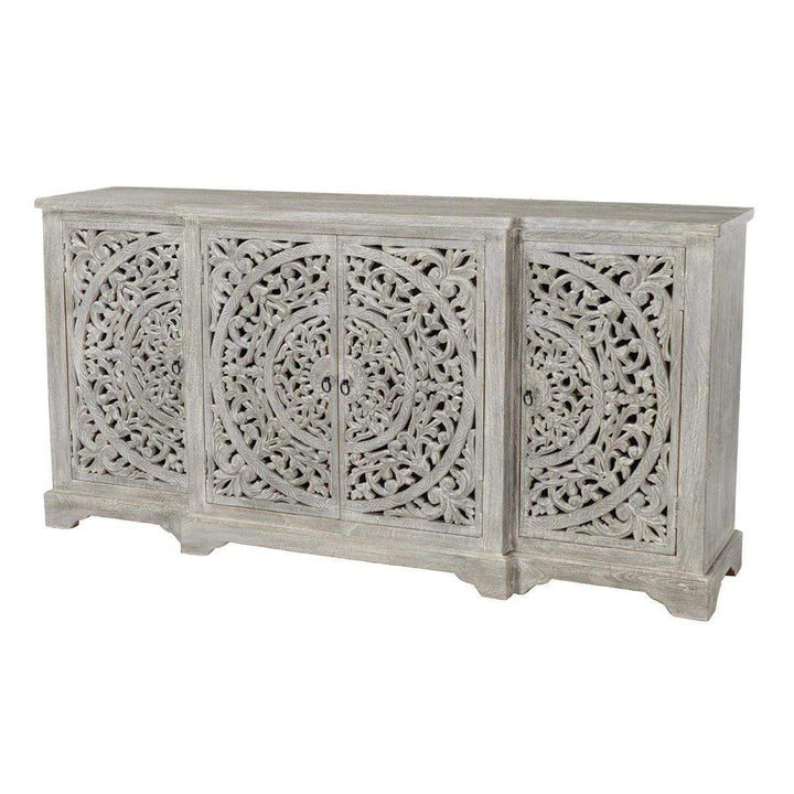 "Harmony 4-Door 72"" Hand Carved Sideboard - Parker Gwen"