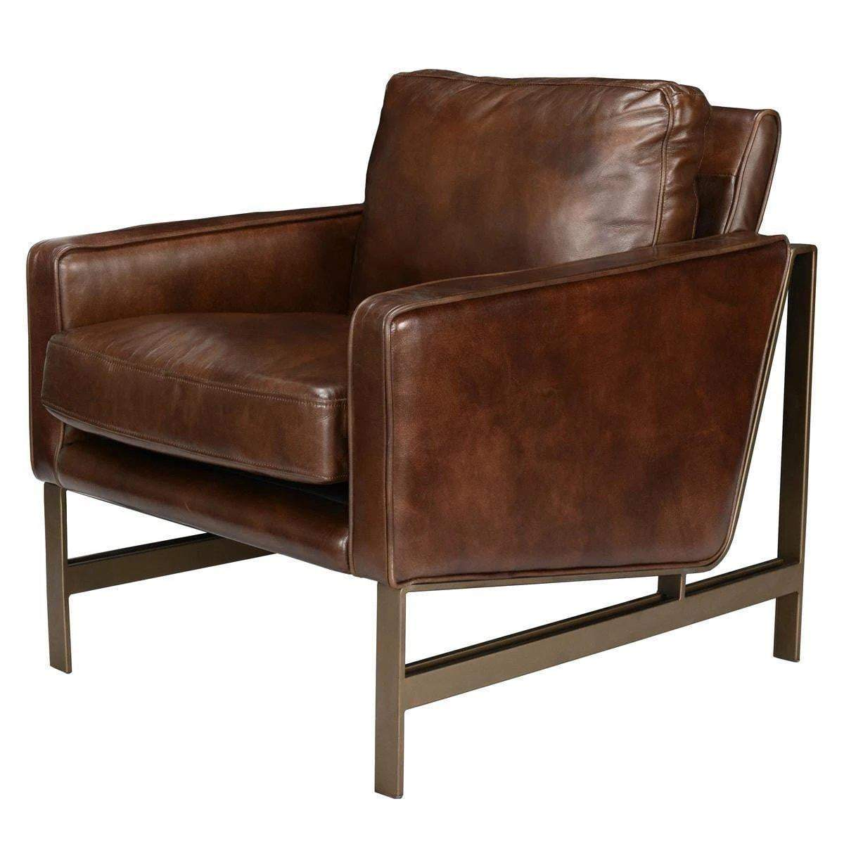Chazzie Leather Club Chair - Parker Gwen