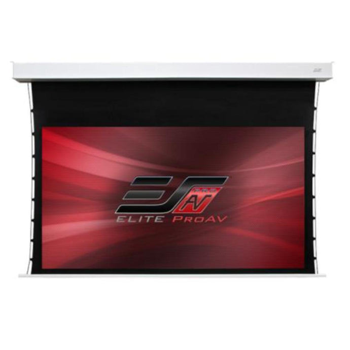 Elite Screens ProAV® Evanesce Tab-Tension CineGrey 5D®, 16:9, Electric Recessed In-Ceiling Tensioned Ceiling Ambient Light Rejecting (CLR®/ALR) Projection Screen w/ 24