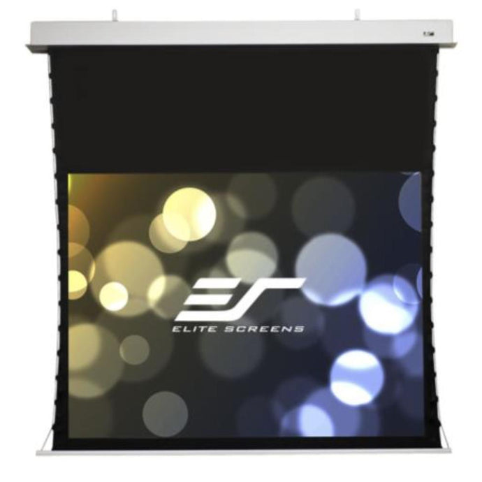 Elite Screens ProAV® Evanesce Tab-Tension, 16:10, Tensioned Electric Motorized In-Ceiling Projection Screen (114