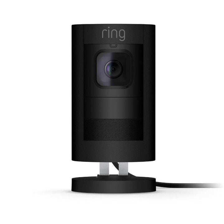 RING STICK UP CAM INDOOR/OUTDOOR SECURITY CAMERA (Black): WIRED - Parker Gwen
