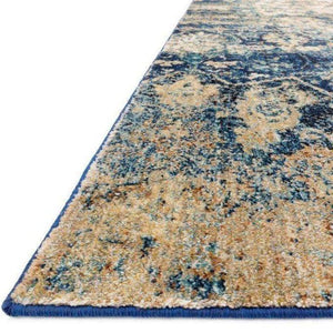 Anastasia Rug Collection: Multiple Sizes & Shapes - (Blue/Ivory)