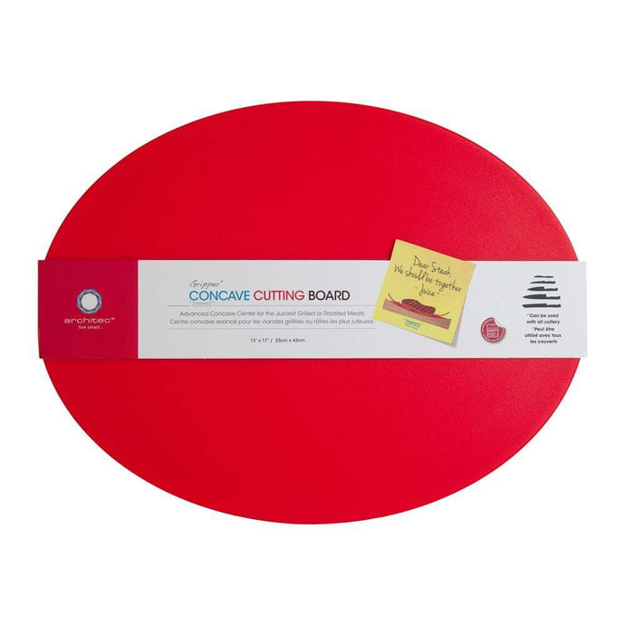Architec GRIPPER™ POLY CONCAVE CUTTING BOARD 13 x 17 (Red) - Parker Gwen