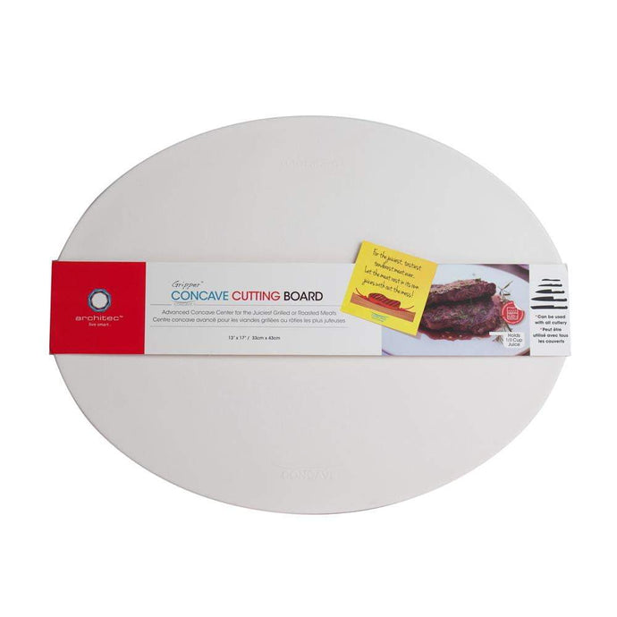 Architec GRIPPER™ POLY CONCAVE CUTTING BOARD 13 x 17 (White) - Parker Gwen