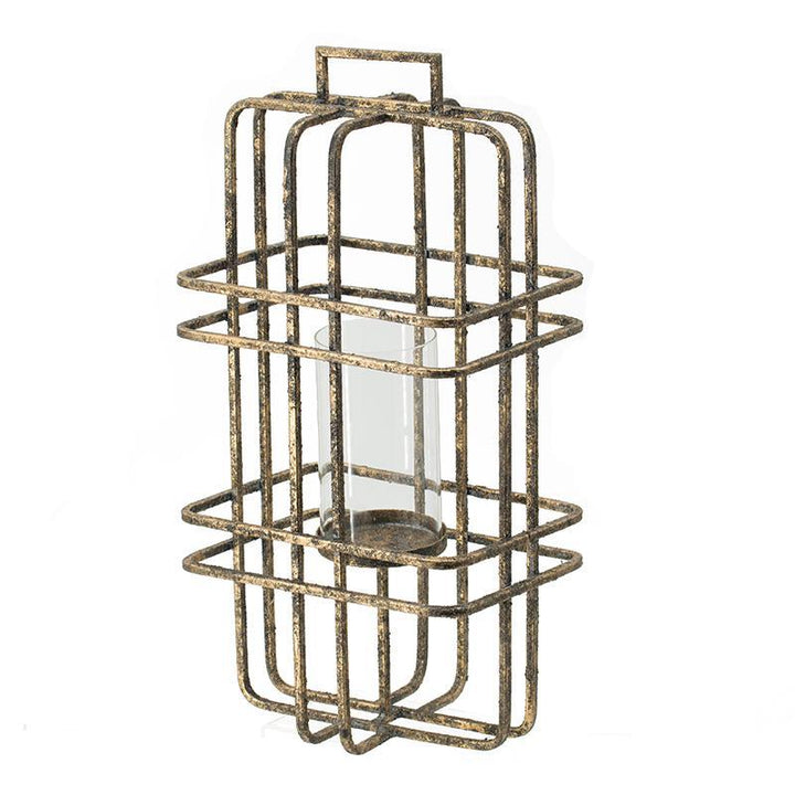 "Rustic Iron Finished Candle Holders (15"" or 20"") 