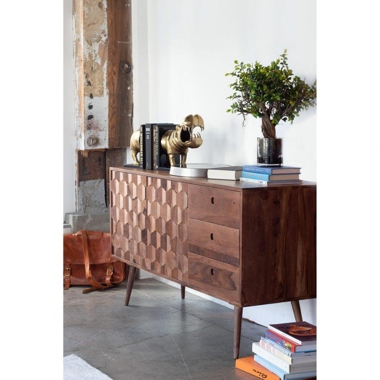 "O2 55"" Sheesham Wood Sideboard"