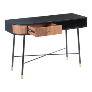 "Black and Tan 46"" Console Table"