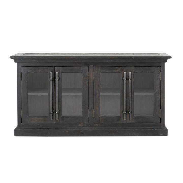"Bastille 74"" Reclaimed Media Sideboard (Black Wash) 