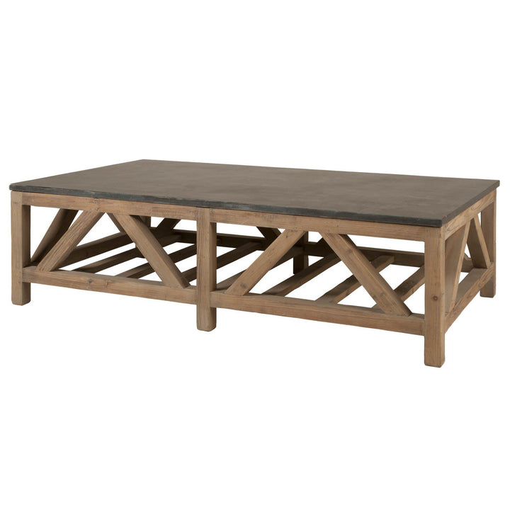 "Blue Stone 63"" Reclaimed Wood Coffee Table 